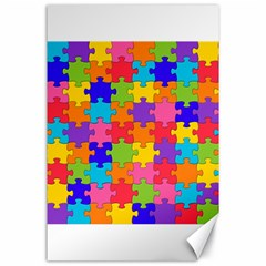Funny Colorful Jigsaw Puzzle Canvas 24  X 36