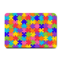 Funny Colorful Jigsaw Puzzle Small Doormat
