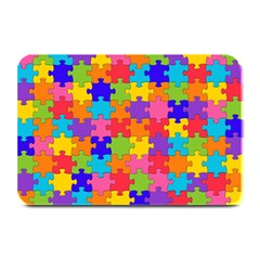 Funny Colorful Jigsaw Puzzle Plate Mats