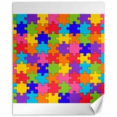 Funny Colorful Jigsaw Puzzle Canvas 11  X 14