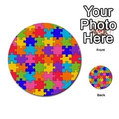 Funny Colorful Jigsaw Puzzle Multi Purpose Cards (round)