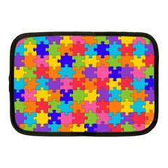 Funny Colorful Jigsaw Puzzle Netbook Case (medium)