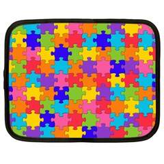 Funny Colorful Jigsaw Puzzle Netbook Case (large)