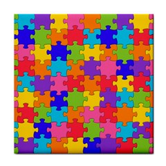 Funny Colorful Jigsaw Puzzle Face Towel