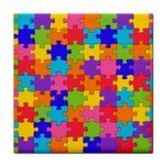 Funny Colorful Jigsaw Puzzle Face Towel Front