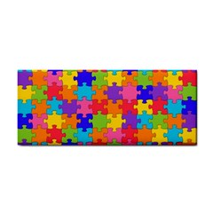 Funny Colorful Jigsaw Puzzle Hand Towel