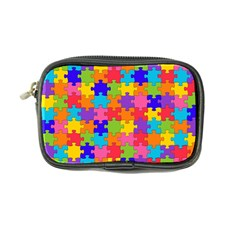 Funny Colorful Jigsaw Puzzle Coin Purse