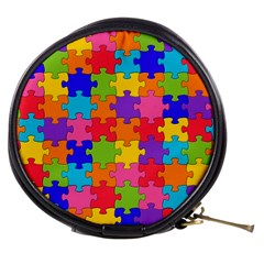 Funny Colorful Jigsaw Puzzle Mini Makeup Bags