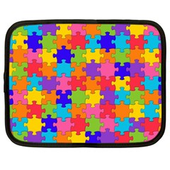 Funny Colorful Jigsaw Puzzle Netbook Case (xxl)