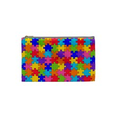 Funny Colorful Jigsaw Puzzle Cosmetic Bag (small)