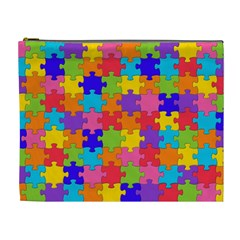 Funny Colorful Jigsaw Puzzle Cosmetic Bag (xl)