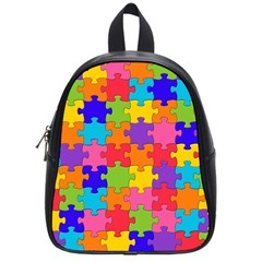 Funny Colorful Jigsaw Puzzle School Bags (small)