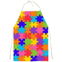 Funny Colorful Jigsaw Puzzle Full Print Aprons
