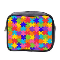 Funny Colorful Jigsaw Puzzle Mini Toiletries Bag 2 Side