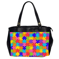 Funny Colorful Jigsaw Puzzle Office Handbags (2 Sides)