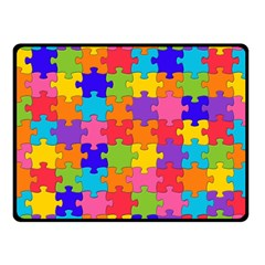 Funny Colorful Jigsaw Puzzle Fleece Blanket (small)