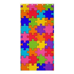 Funny Colorful Jigsaw Puzzle Shower Curtain 36  X 72  (stall)