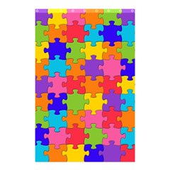 Funny Colorful Jigsaw Puzzle Shower Curtain 48  X 72  (small)
