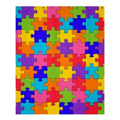 Funny Colorful Jigsaw Puzzle Shower Curtain 60  X 72  (medium)
