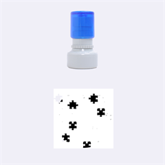 Funny Colorful Jigsaw Puzzle Rubber Round Stamps (small)