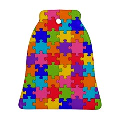 Funny Colorful Jigsaw Puzzle Bell Ornament (2 Sides)