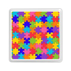Funny Colorful Jigsaw Puzzle Memory Card Reader (square)