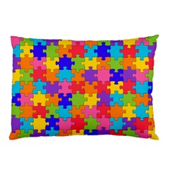 Funny Colorful Jigsaw Puzzle Pillow Case (two Sides)