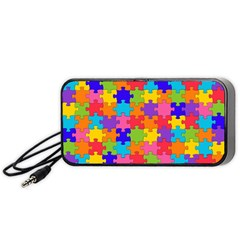 Funny Colorful Jigsaw Puzzle Portable Speaker (black)