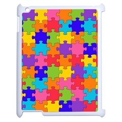 Funny Colorful Jigsaw Puzzle Apple Ipad 2 Case (white)