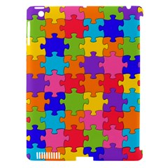Funny Colorful Jigsaw Puzzle Apple Ipad 3/4 Hardshell Case (compatible With Smart Cover)