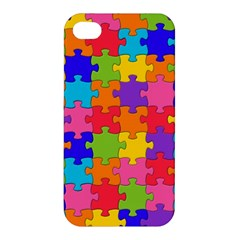 Funny Colorful Jigsaw Puzzle Apple Iphone 4/4s Premium Hardshell Case