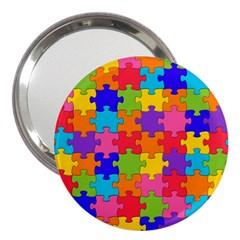 Funny Colorful Jigsaw Puzzle 3  Handbag Mirrors