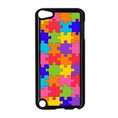 Funny Colorful Jigsaw Puzzle Apple Ipod Touch 5 Case (black)