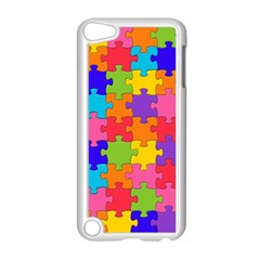Funny Colorful Jigsaw Puzzle Apple Ipod Touch 5 Case (white)