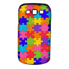 Funny Colorful Jigsaw Puzzle Samsung Galaxy S Iii Classic Hardshell Case (pc+silicone)