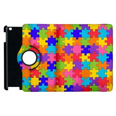 Funny Colorful Jigsaw Puzzle Apple Ipad 2 Flip 360 Case