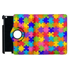 Funny Colorful Jigsaw Puzzle Apple Ipad 3/4 Flip 360 Case