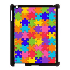 Funny Colorful Jigsaw Puzzle Apple Ipad 3/4 Case (black)