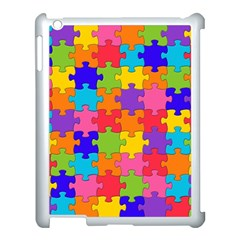 Funny Colorful Jigsaw Puzzle Apple Ipad 3/4 Case (white)