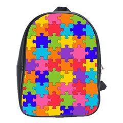 Funny Colorful Jigsaw Puzzle School Bags (xl)