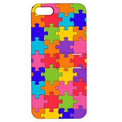Funny Colorful Jigsaw Puzzle Apple Iphone 5 Hardshell Case With Stand