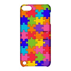 Funny Colorful Jigsaw Puzzle Apple Ipod Touch 5 Hardshell Case With Stand