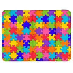 Funny Colorful Jigsaw Puzzle Samsung Galaxy Tab 7  P1000 Flip Case