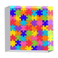 Funny Colorful Jigsaw Puzzle 5  x 5  Acrylic Photo Blocks