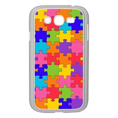 Funny Colorful Jigsaw Puzzle Samsung Galaxy Grand Duos I9082 Case (white)