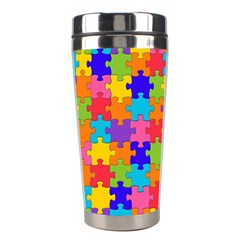 Funny Colorful Jigsaw Puzzle Stainless Steel Travel Tumblers