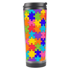 Funny Colorful Jigsaw Puzzle Travel Tumbler