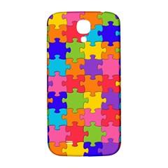 Funny Colorful Jigsaw Puzzle Samsung Galaxy S4 I9500/i9505  Hardshell Back Case