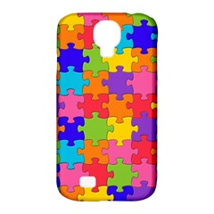 Funny Colorful Jigsaw Puzzle Samsung Galaxy S4 Classic Hardshell Case (pc+silicone)