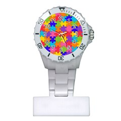 Funny Colorful Jigsaw Puzzle Plastic Nurses Watch